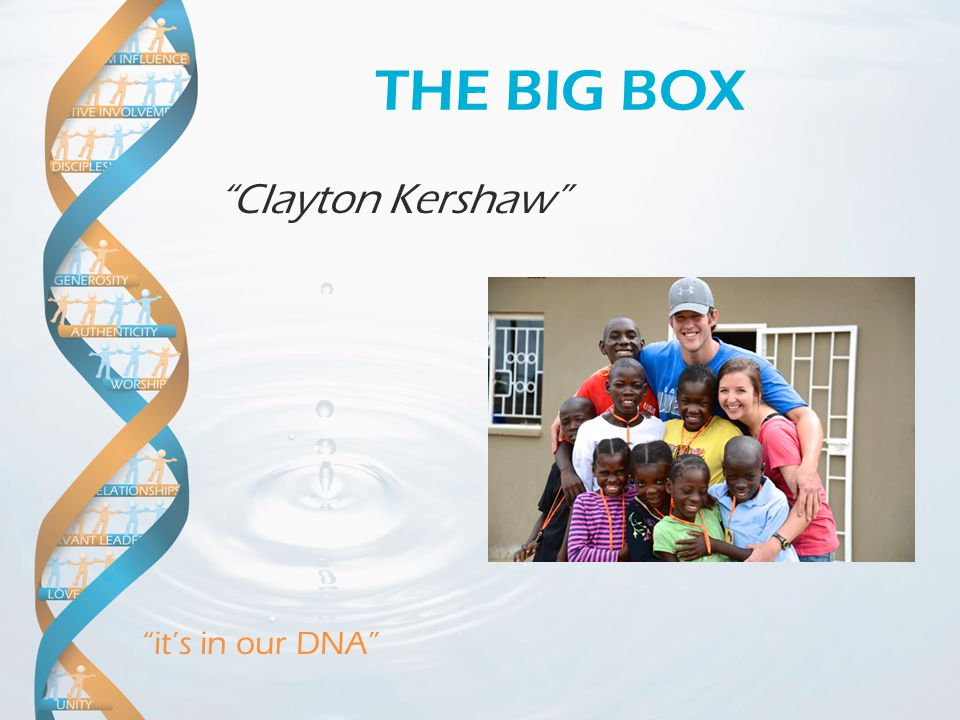 it's in our DNA THE BIG BOX Clayton Kershaw