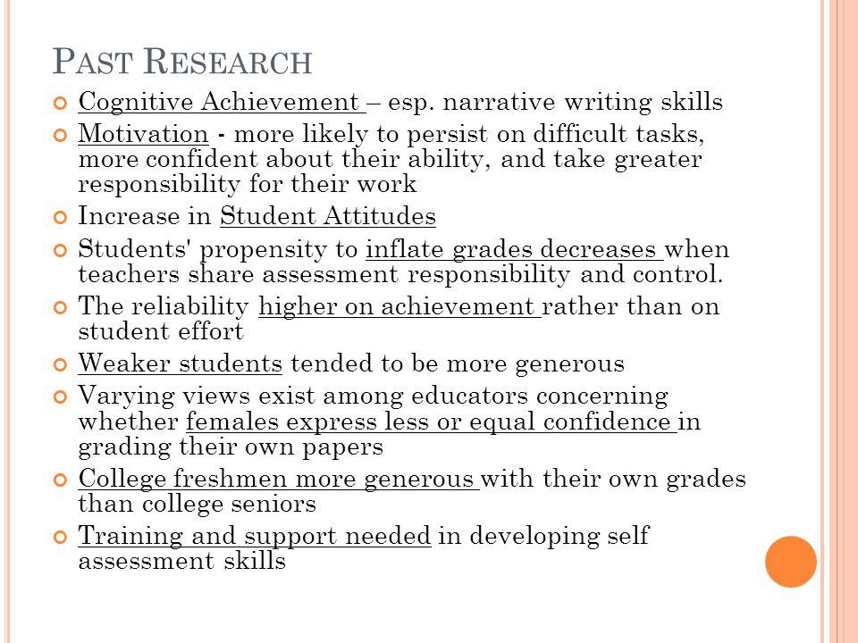P AST R ESEARCH Cognitive Achievement – esp.