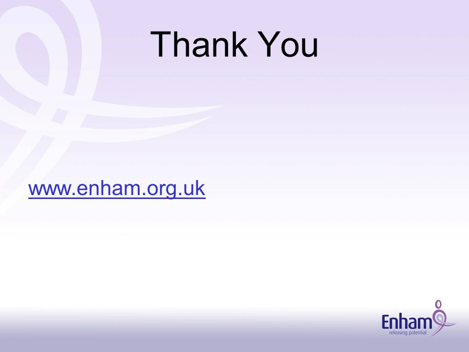 Thank You www.enham.org.uk