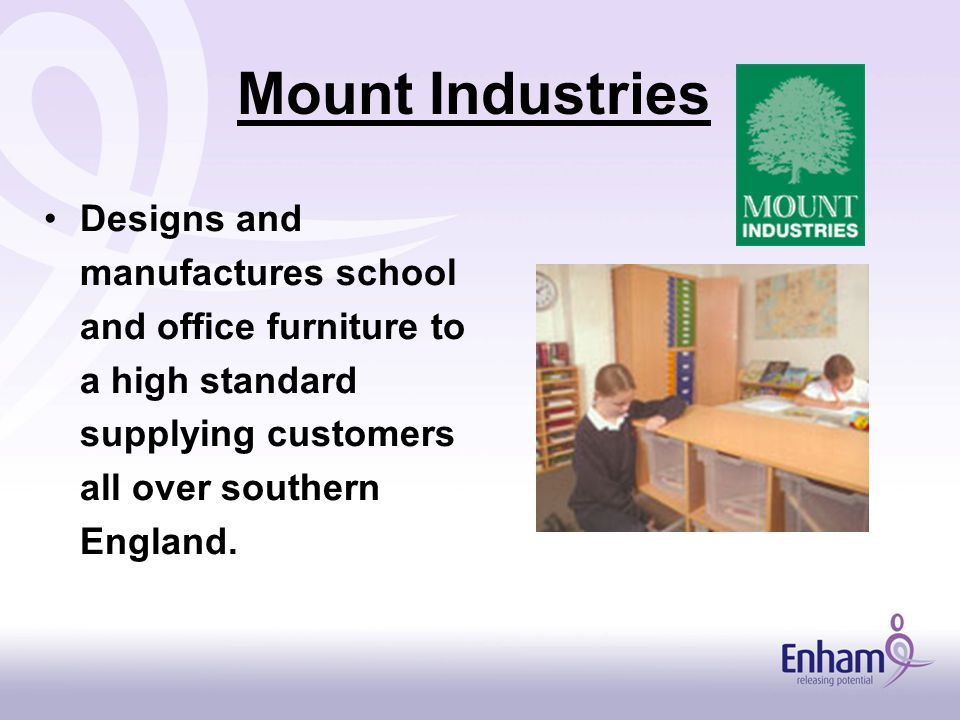 Mount Industries Designs and manufactures school and office furniture to a high standard supplying customers all over southern England.