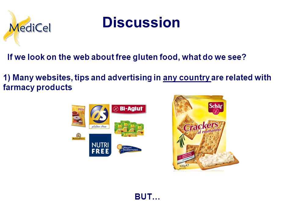 If we look on the web about free gluten food, what do we see.