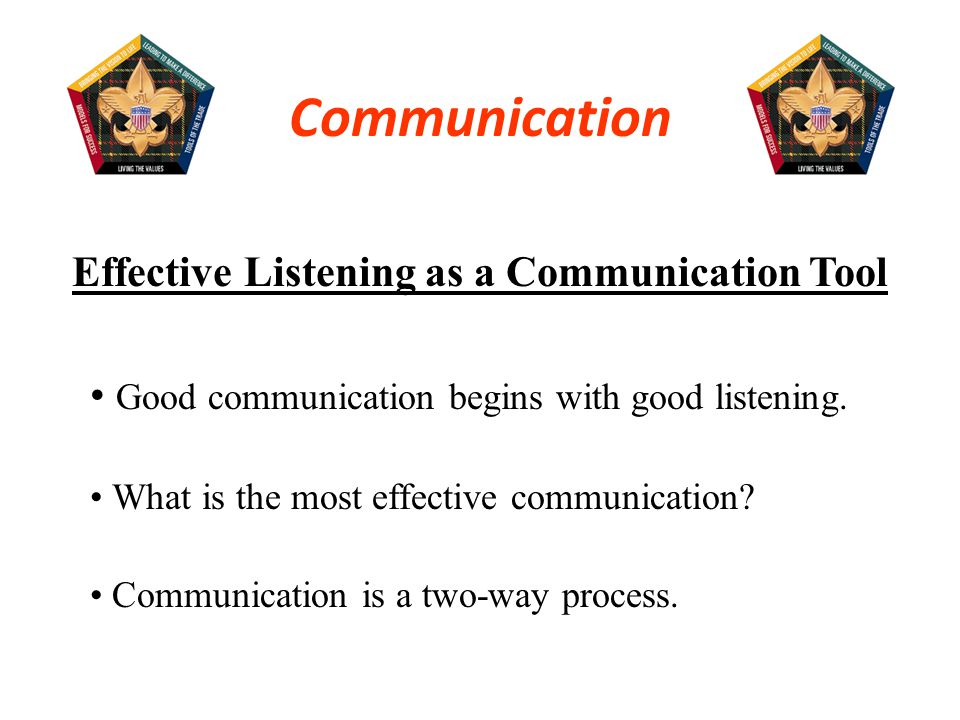  Good communication begins with good listening, both on the part of the receiver and on the part of the sender.