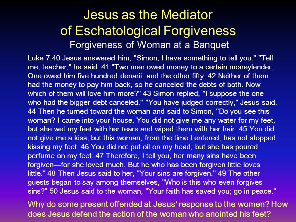 Luke 7:40 Jesus answered him,