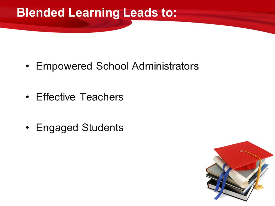 Blended Learning Leads to: Empowered School Administrators Effective Teachers Engaged Students