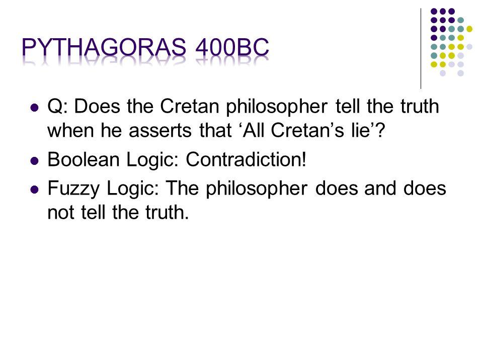 Q: Does the Cretan philosopher tell the truth when he asserts that 'All Cretan's lie'.