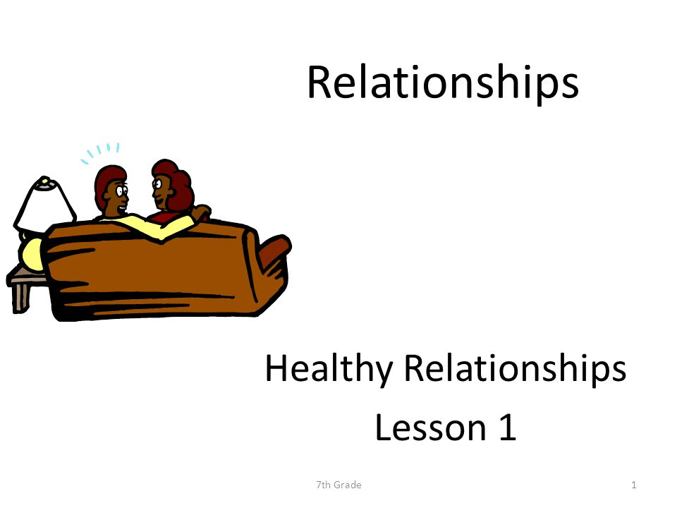 Relationships Healthy Relationships Lesson 1 7th Grade1