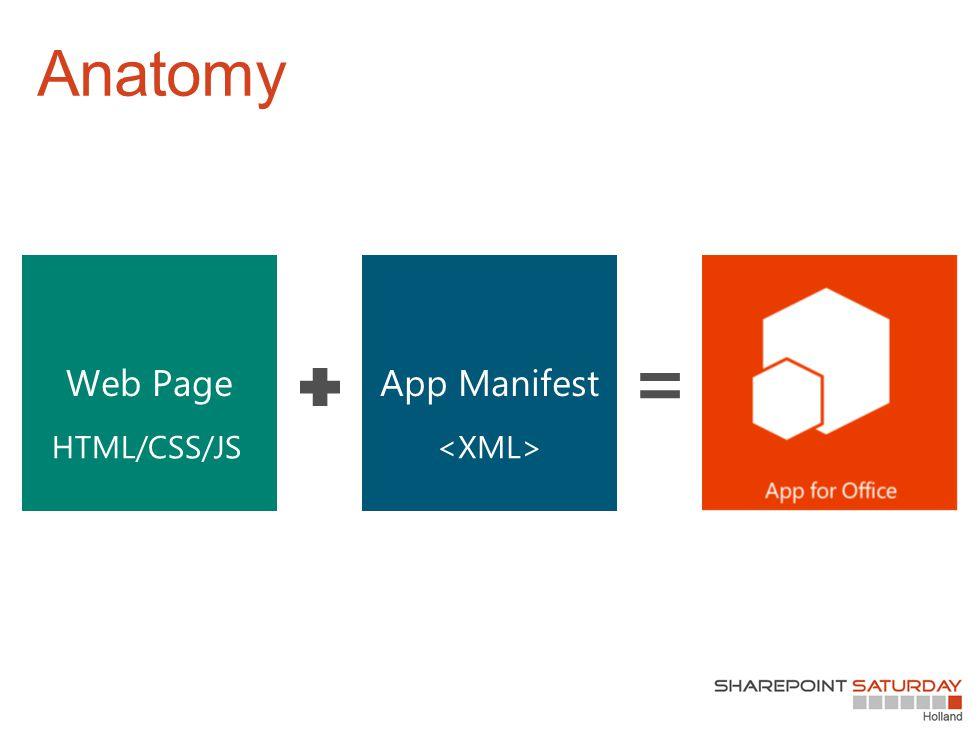 Anatomy App ManifestWeb Page HTML/CSS/JS