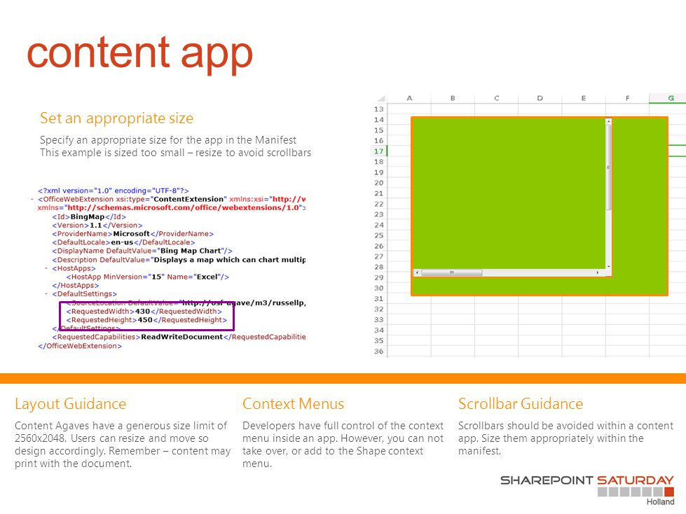 content app Layout Guidance Content Agaves have a generous size limit of 2560x2048.
