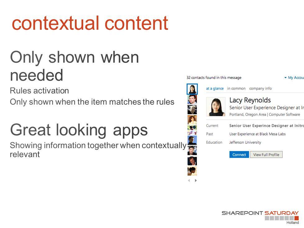 contextual content