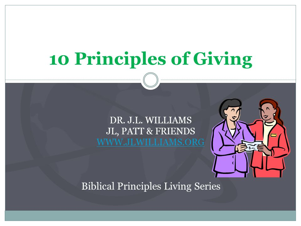5.Purposeful 4. Edification: Giving to build up needy Christians, especially widows and orphans.