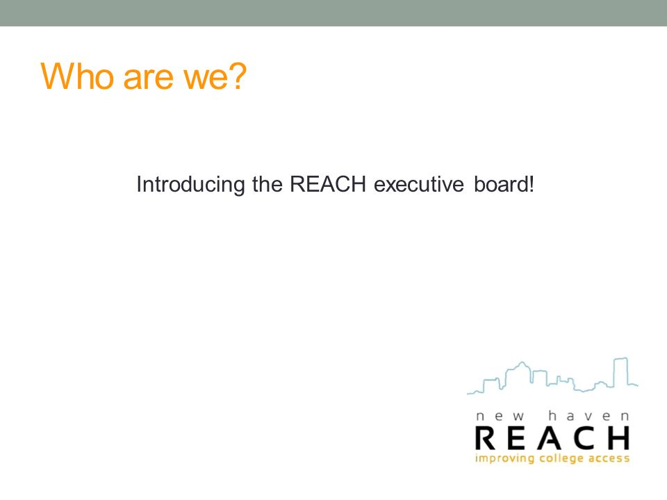 Who are we? Introducing the REACH executive board!