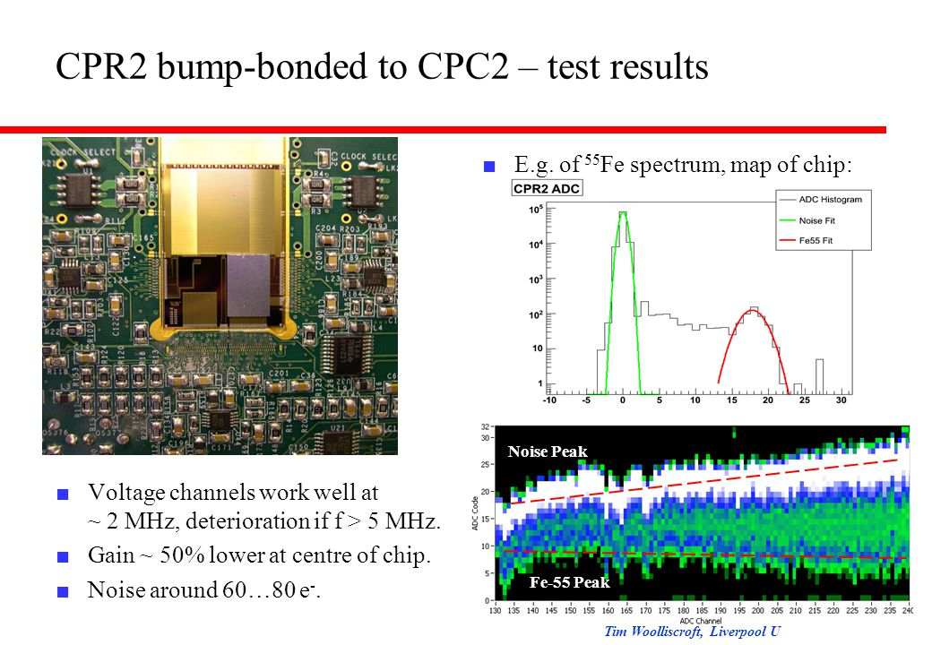 CPR2 bump-bonded to CPC2 – test results ■ E.g.