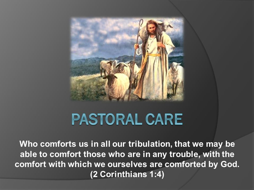 Who comforts us in all our tribulation, that we may be able to comfort those who are in any trouble, with the comfort with which we ourselves are comforted by God.