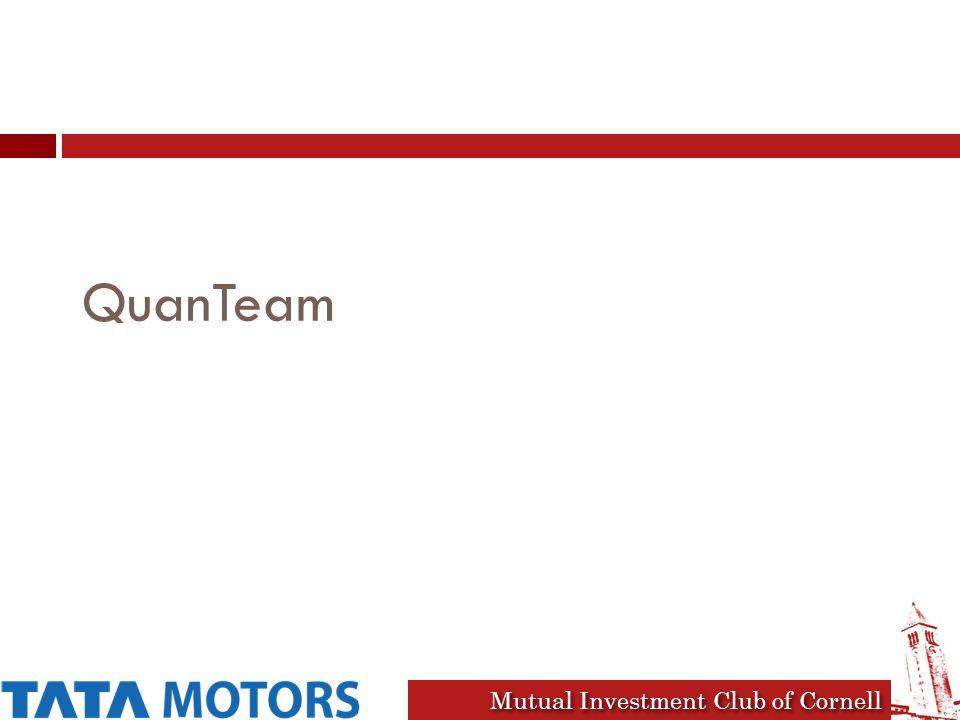 Mutual Investment Club of Cornell QuanTeam
