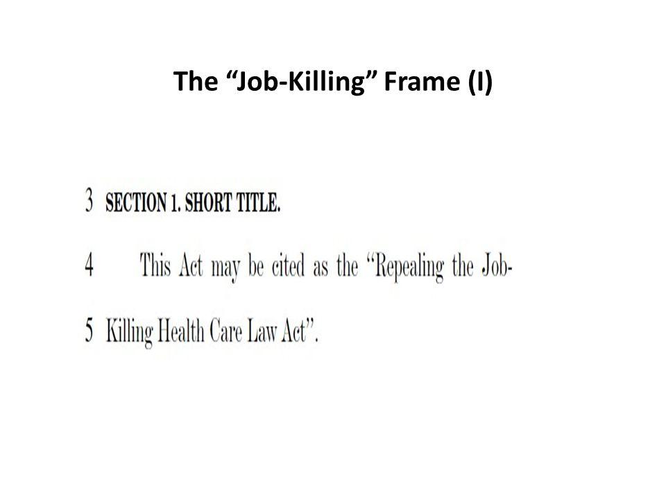 The Job-Killing Frame (I)