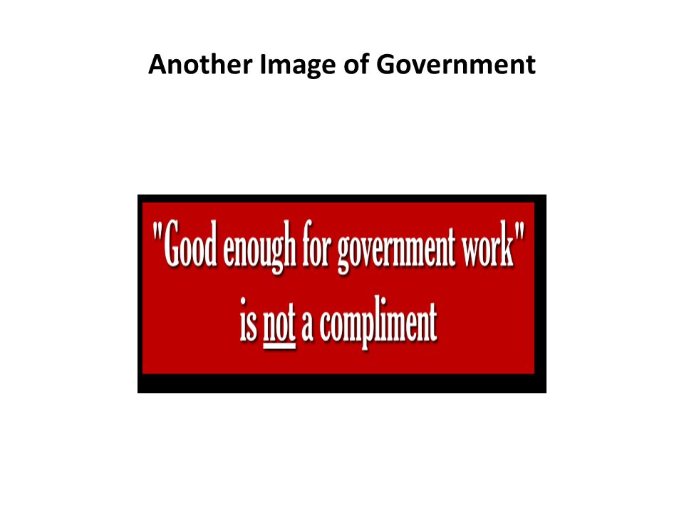 Another Image of Government