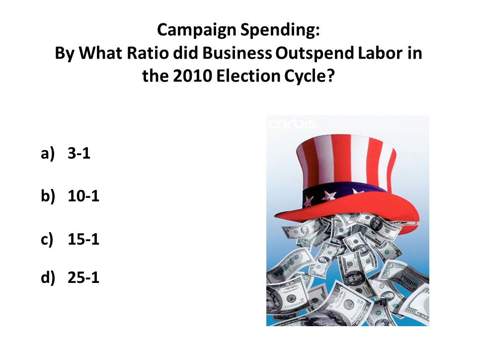 Campaign Spending: By What Ratio did Business Outspend Labor in the 2010 Election Cycle.