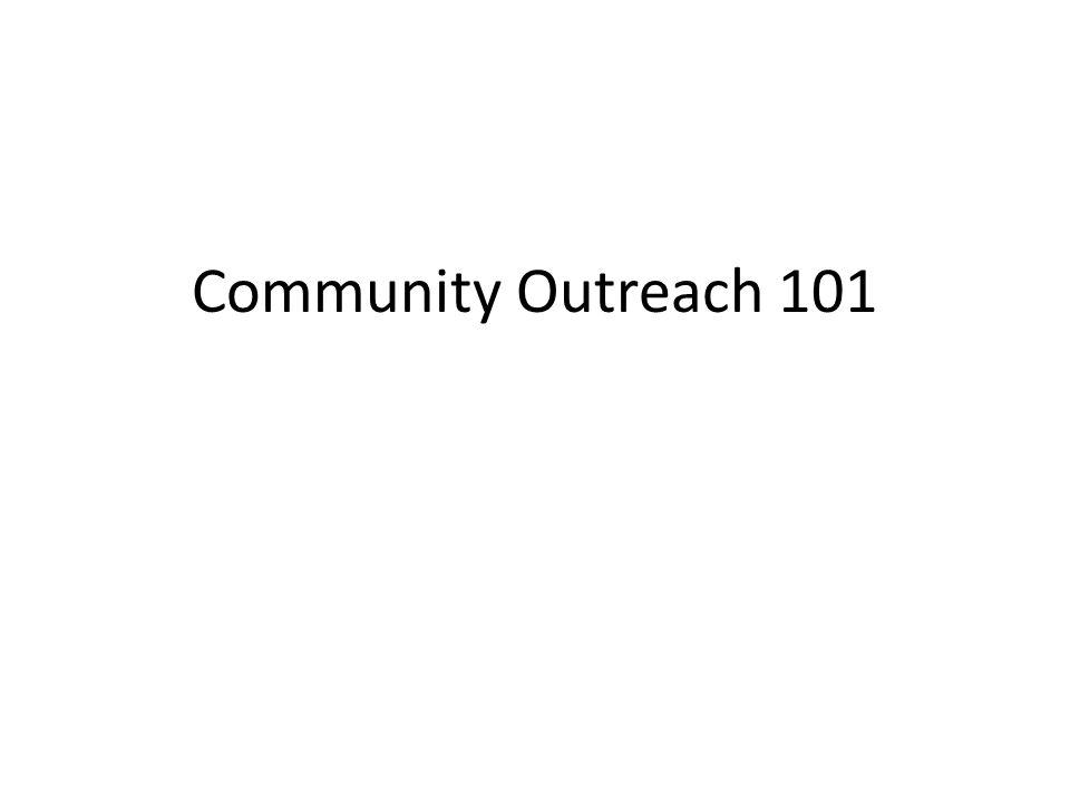 Community Outreach 101
