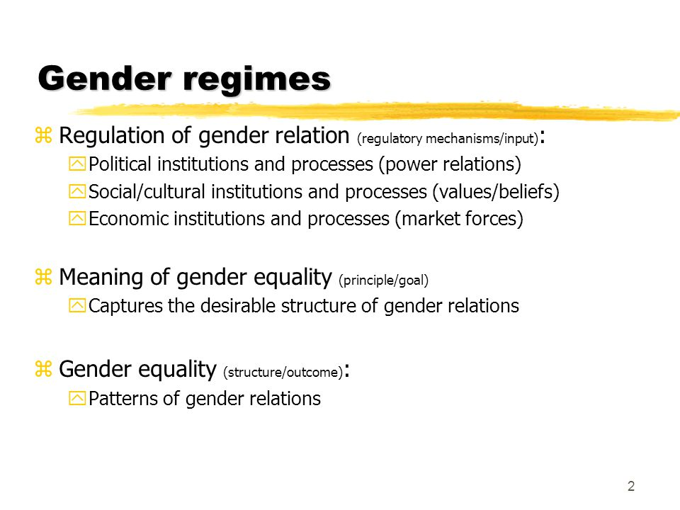 Gender equality in the Nordic countries zNordic countries - similar in terms of: yHow gender equality has been promoted/achieved (input) xNordic countries pursued gender equality through parental leave and childcare policies encouraging women to take up paid employment yLevel of gender equality (output) zSimilarities conceal path-dependency or the influences of national specific : yPolitical and social relations yInstitutional arrangements yMutual learning processes taking place across the Nordic countries 3
