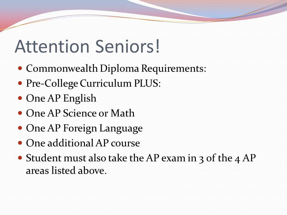 Attention Seniors.