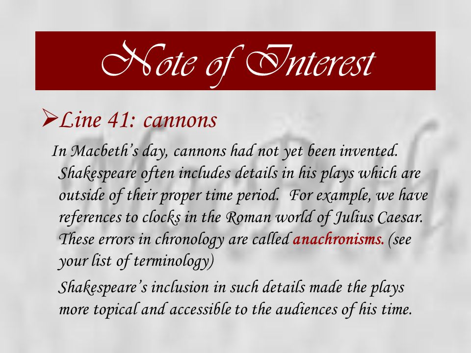 Act One, Scene Two  Guiding Question: This play has many words and phrases that echo throughout the various scenes. Look at the last line of this sce