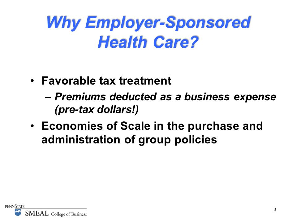 3 Why Employer-Sponsored Health Care.