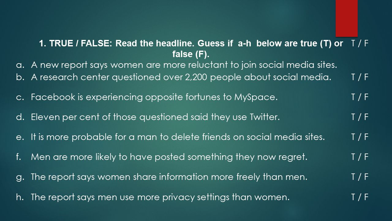  The report showed big differences between how men and women use social media and how we manage our privacy.