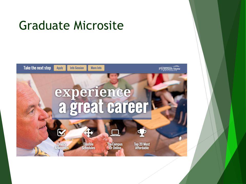 Graduate Microsite