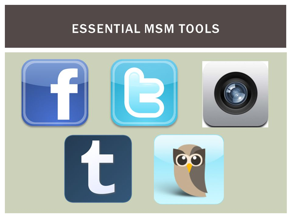 ESSENTIAL MSM TOOLS