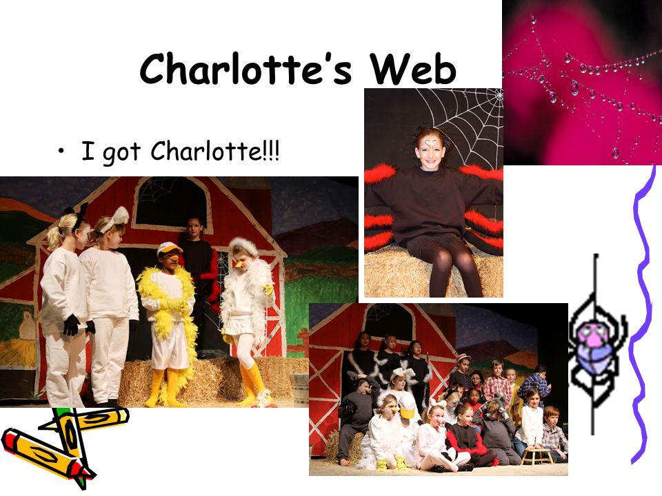 Charlotte's Web I got Charlotte!!!