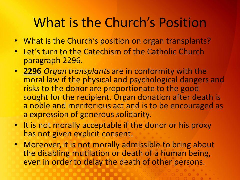 Organ Transplant Should Catholics do it?