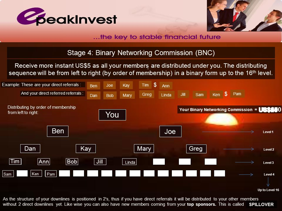 Stage 4: Binary Networking Commission (BNC).