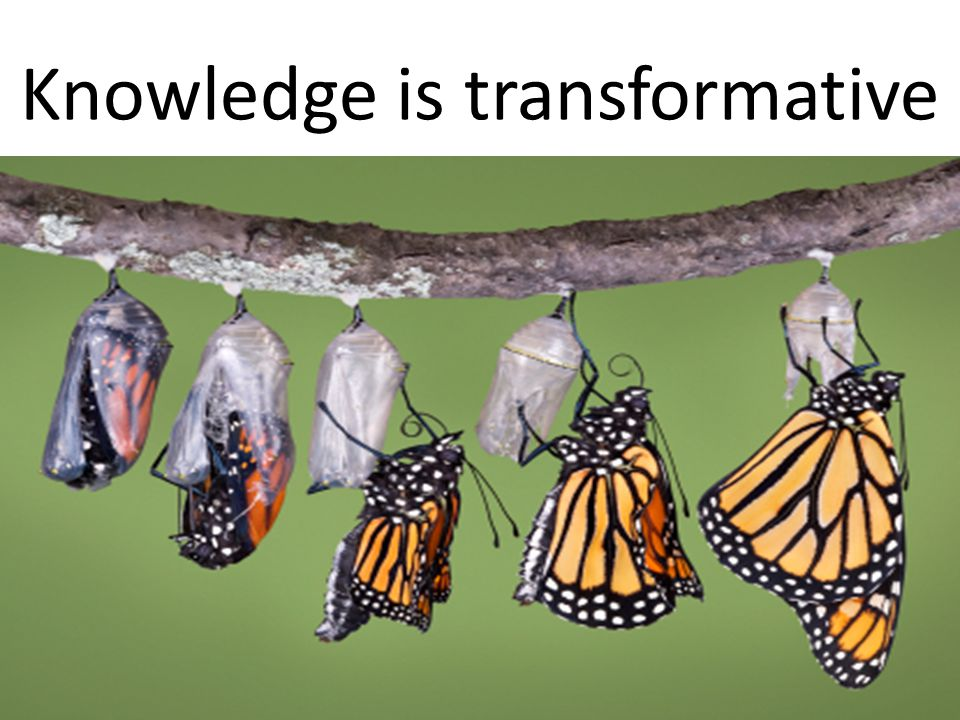Knowledge is transformative