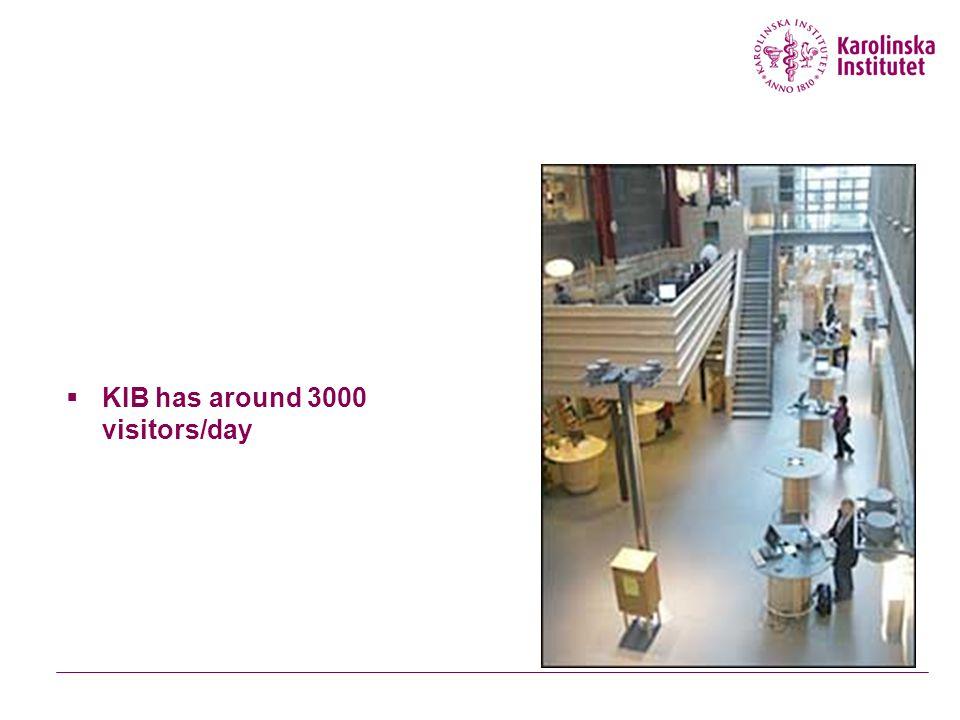  KIB has around 3000 visitors/day