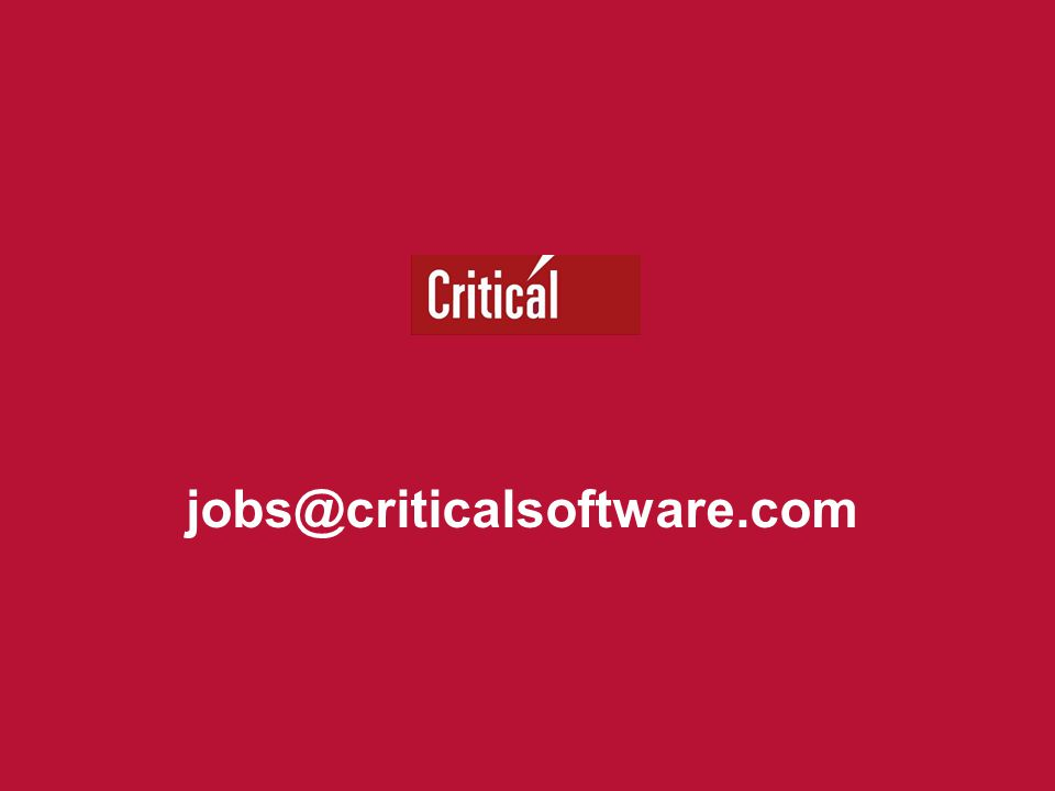 jobs@criticalsoftware.com
