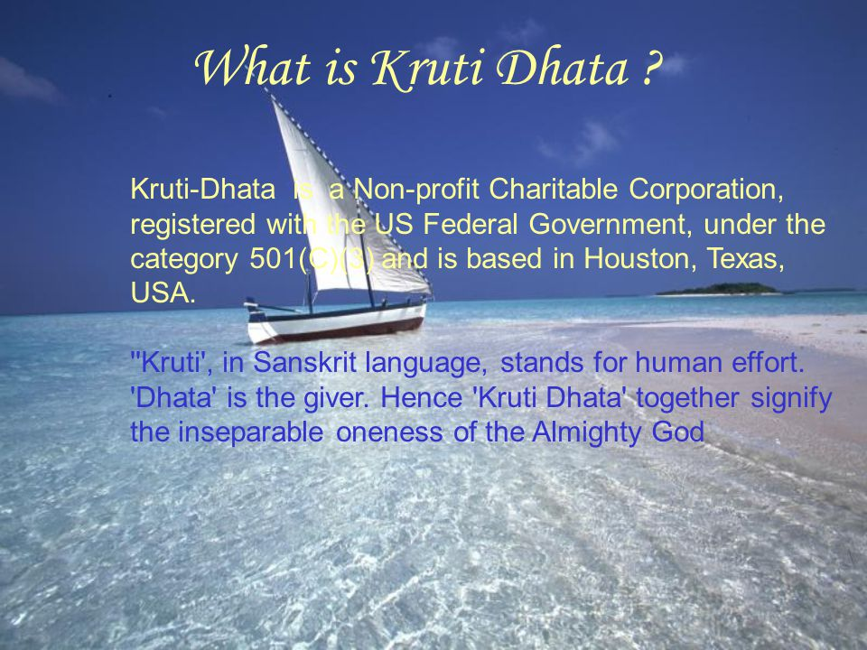 Contact Information Please contact Kruti-Dhata for further information about the activities and programs.