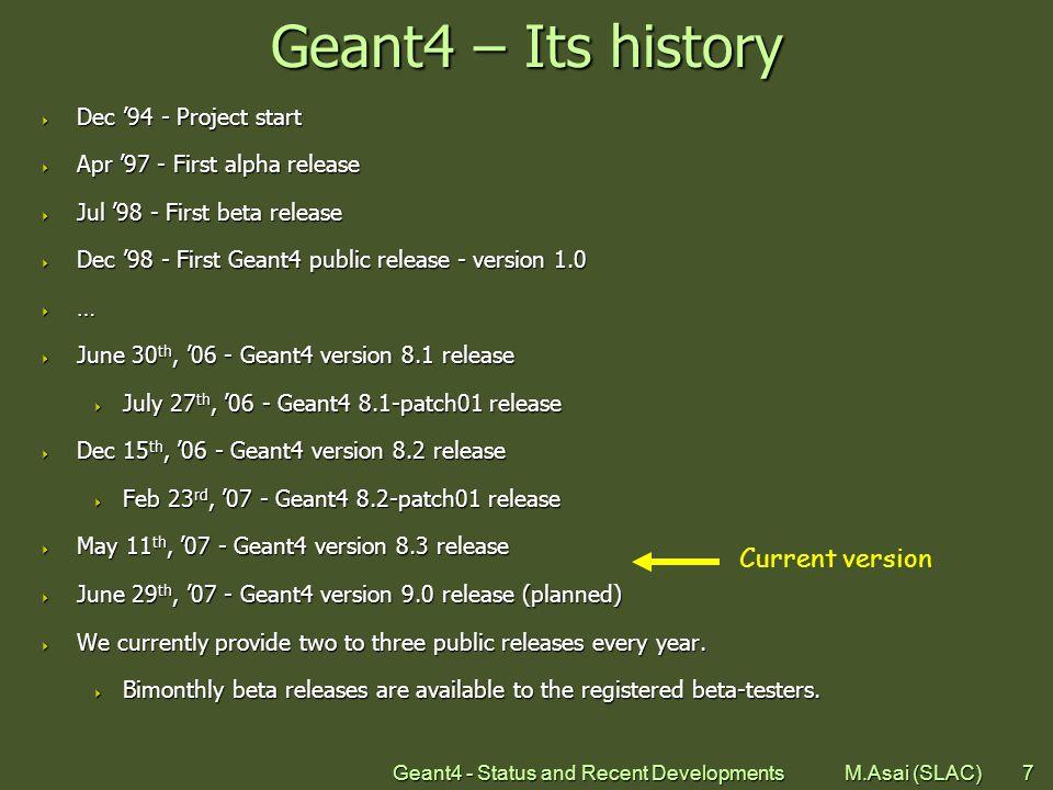Geant4 - Status and Recent Developments M.Asai (SLAC)28 Sensitive detector vs.