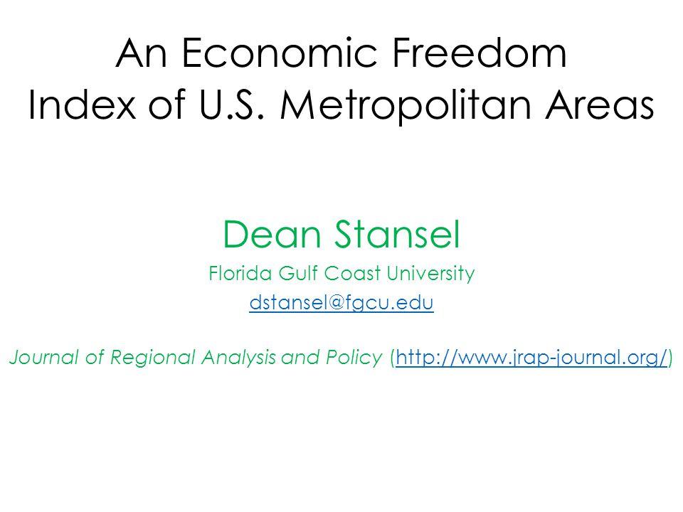 An Economic Freedom Index of U.S.