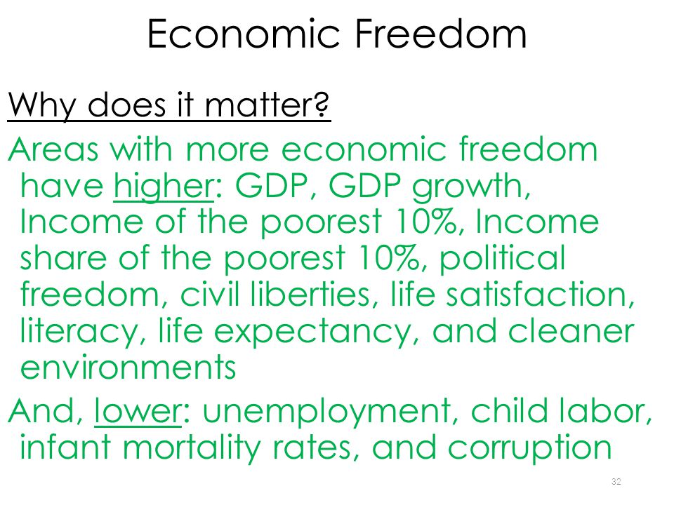 Economic Freedom Why does it matter.