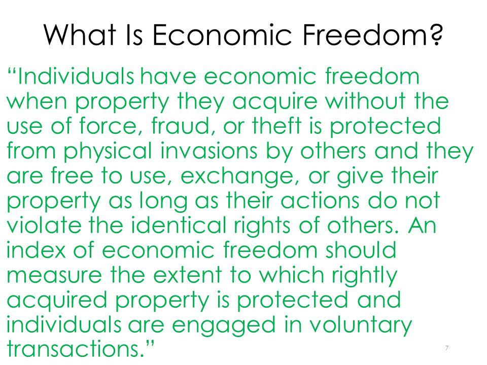 What Is Economic Freedom.