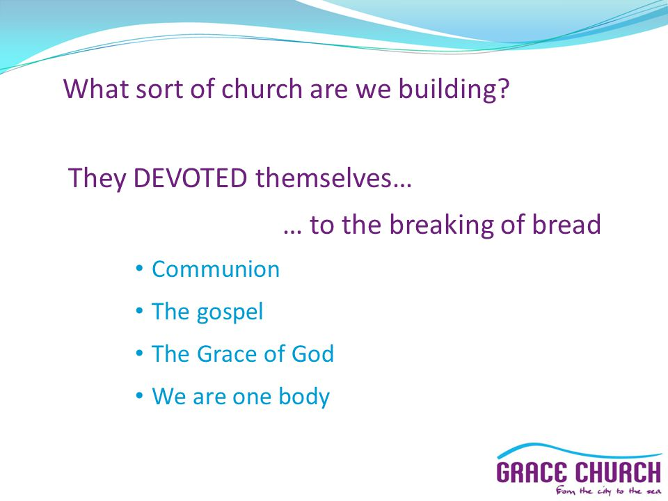 What sort of church are we building.
