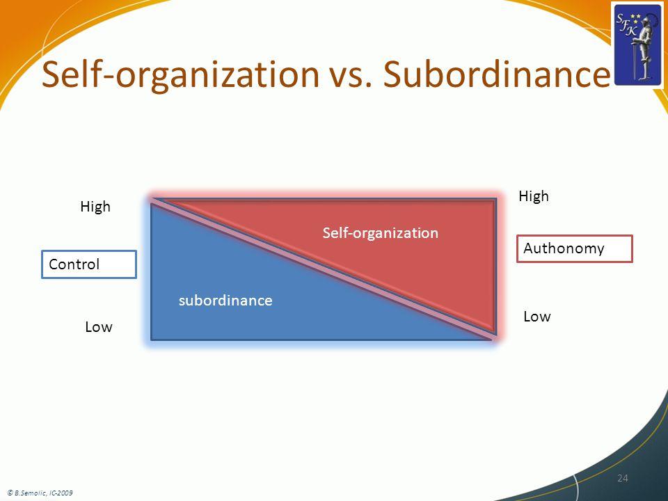 Self-organization vs.