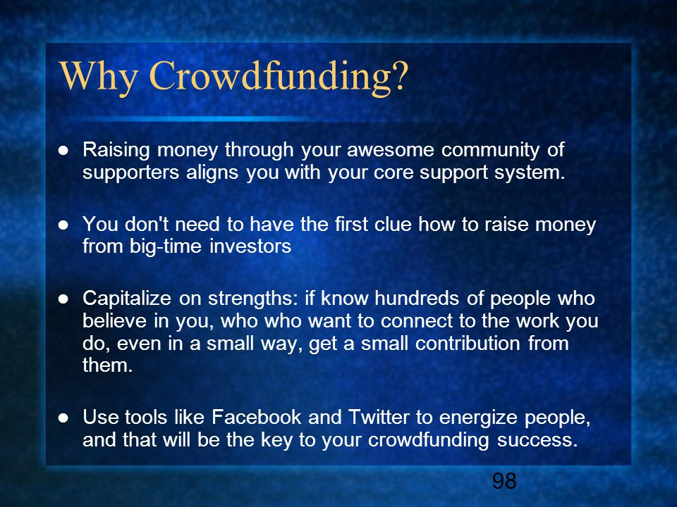 98 Why Crowdfunding.