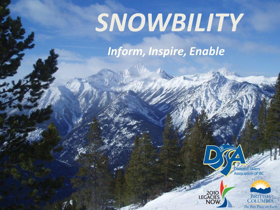 SNOWBILITY Inform, Inspire, Enable