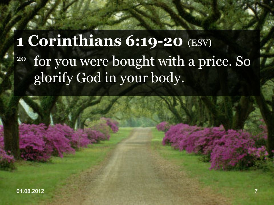 01.08.201258 Philippians 1:21 (ESV) 21 For to me to live is Christ, and to die is gain.