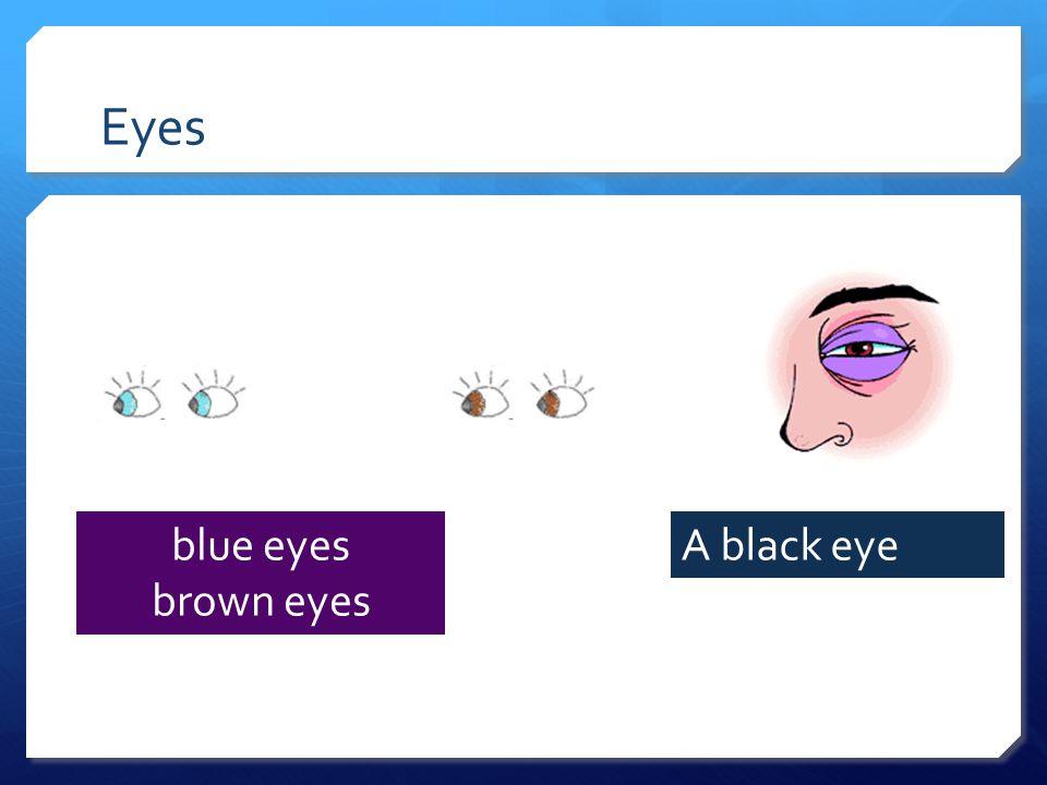 Eyes blue eyes brown eyes A black eye