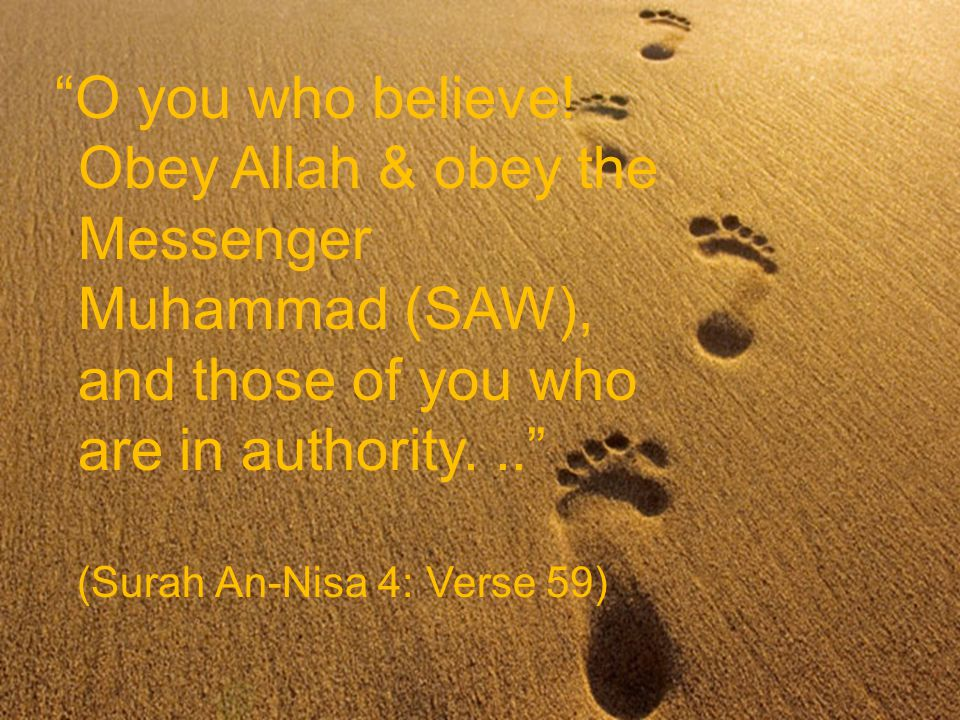 O you who believe.