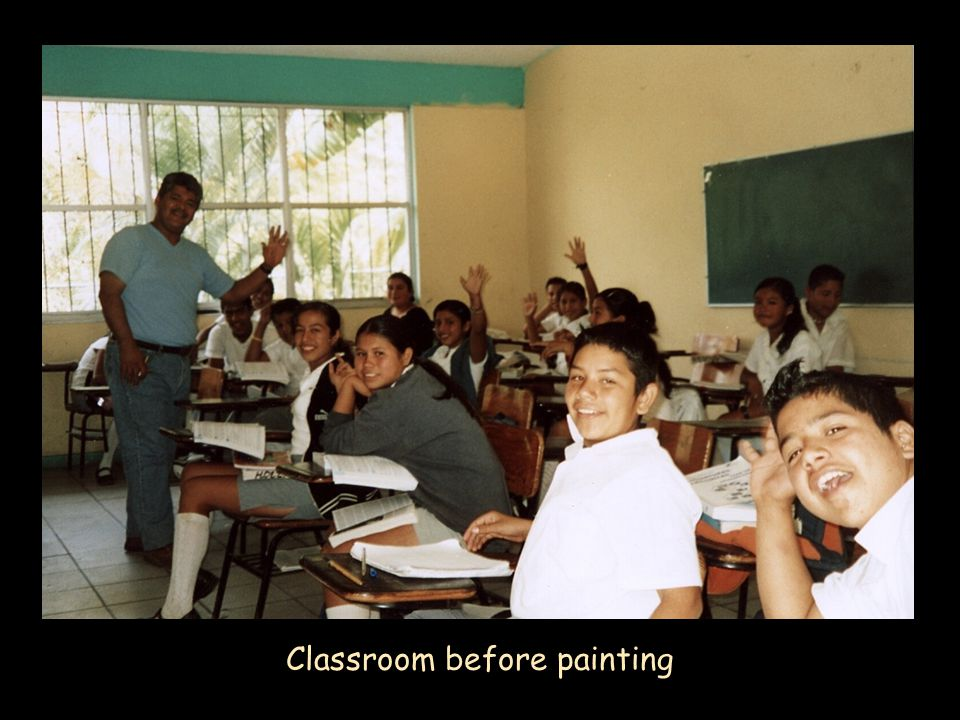 Classroom before painting