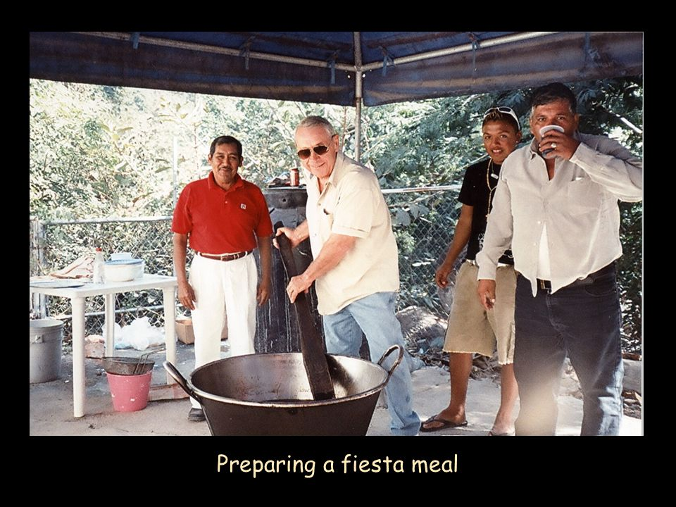 Preparing a fiesta meal