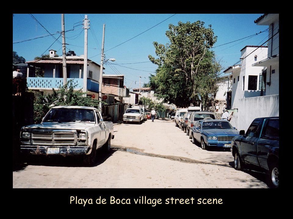 Playa de Boca village street scene